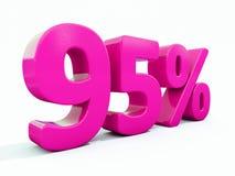 Un segno rosa di 95 per cento illustrazione di stock