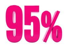 Un segno rosa di 95 per cento royalty illustrazione gratis