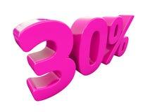 Un segno rosa di 30 per cento Immagine Stock Libera da Diritti