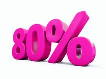 Un segno rosa di 80 per cento royalty illustrazione gratis