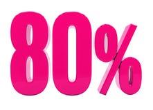 Un segno rosa di 80 per cento illustrazione di stock