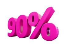 Un segno rosa di 90 per cento illustrazione di stock