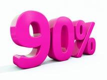 Un segno rosa di 90 per cento illustrazione vettoriale