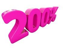 Un segno rosa di 200 per cento Illustrazione Vettoriale