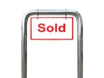 Un segno venduto l'altro angolo Fotografia Stock Libera da Diritti