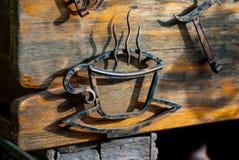 Un segno vicino al caffè Immagine Stock Libera da Diritti