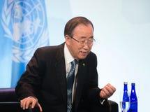 UN sekretarka - generał Ban Ki-moon Fotografia Stock