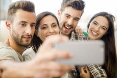 Un selfie avec des amis Images stock