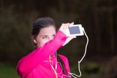 Un selfie per la mia rete sociale Fotografie Stock