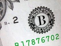 Un sello Bill-Federal de la reserva del dólar Fotos de archivo