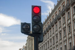 Un semáforo Imagenes de archivo