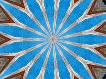 Un sentido de Mandala Design de madera ilustración del vector
