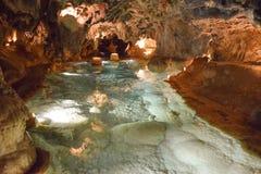 Un sentido del misterio que rodea las cuevas hermosas de Aracena Imagen de archivo libre de regalías