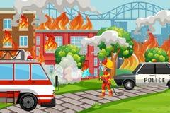 Un service de aide de sapeur-pompier illustration libre de droits