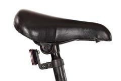Un siège de selle sur une bicyclette avec image stock