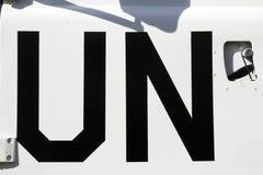 UN sign Stock Images