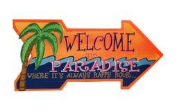 Un signe bienvenu tropical Image libre de droits