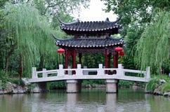 Un signe d'horizontal de la Chine, passerelles classiques Photos stock