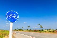 Un signe de bicyclette Image stock