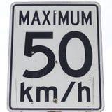 Un signe de limitation de vitesse Images libres de droits