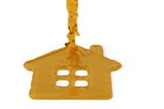 Un signe de symbole de maison de miel illustration 3D Photo libre de droits
