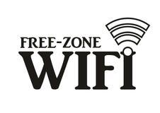 Un signe gratuit de zone de wifi Photo stock