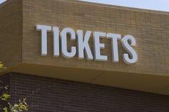 Billets d'admission d'événement de divertissement Images libres de droits