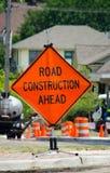 Signe de construction de routes Images stock