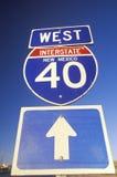 Un signe pour 40 d'un état à un autre occidentaux au Nouveau Mexique Photos stock