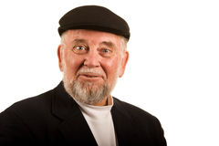 Un signore più anziano felice Immagini Stock Libere da Diritti