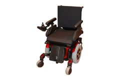 Un sillón de ruedas eléctrico. Fotos de archivo