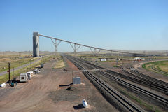 Un silo de chargement pour l'industrie charbonnière dans le Dakota du Sud Photos libres de droits