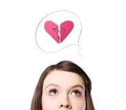 Un simbolo del biglietto di S. Valentino. Immagine Stock