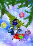 Un simbolo del A. del drago-Nuovo anno blu scuro. di 2012 Fotografia Stock