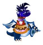 Un simbolo del A. del drago-Nuovo anno blu scuro. di 2012 Fotografie Stock Libere da Diritti