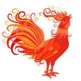 Un simbolo del gallo del fuoco di 2017 nuovi anni Immagine Stock Libera da Diritti