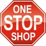 Un simbolo del segno del negozio di arresto Fotografie Stock