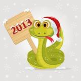 Un simbolo del serpente di 2013 anni Fotografia Stock Libera da Diritti