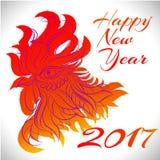 Un simbolo dello zodiaco del gallo di 2017 anni Fotografie Stock