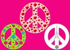 Un simbolo internazionale di pace, disarmo, movimento pacifista illustrazione di stock