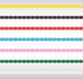 Fronteras del cordón Imagen de archivo libre de regalías