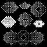 Un sistema de 7 asiáticos (chino, coreano o japonés) o de nudos de estilo celta Fotos de archivo libres de regalías