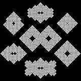 Un sistema de 7 asiáticos o de nudos de estilo celta Imágenes de archivo libres de regalías