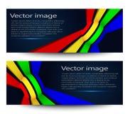 Un sistema de banderas brillantes modernas Ilustración del vector Imagenes de archivo