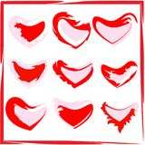 Un sistema de corazones pintados Imagen de archivo libre de regalías