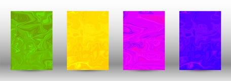 Un sistema de cubiertas modernas Modelo de mármol abstracto stock de ilustración