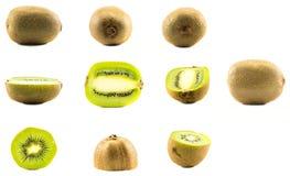 Un sistema de diversos kiwis Fotos de archivo libres de regalías