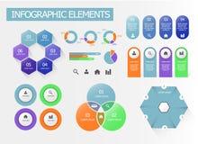 Un sistema de elementos infographic ilustración del vector