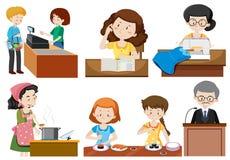 Un sistema de empleos stock de ilustración