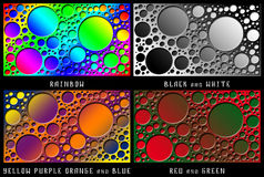 Un sistema de figuras Caos del color Imagen de archivo